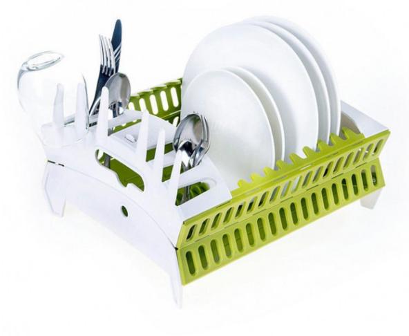 Органайзер для посуды Compact Dish Rack   Складная настольная сушилка для посуды