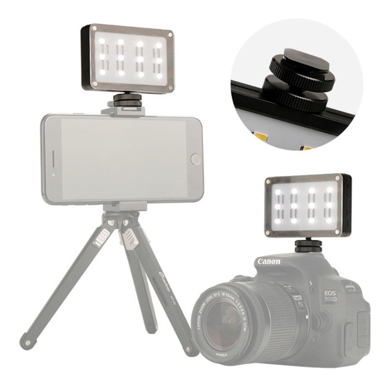 Накамерный свет Ulanzi Cardlite с 12 светодиодами и двумя светофильтрами для смартфонов экшн камер 1/4 дюйма