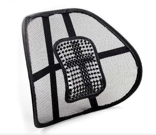 Ортопедична спинка-подушка з масажером на сидіння на крісло   Спинка на сидіння авто