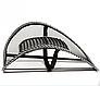 Ортопедична спинка-подушка з масажером на сидіння на крісло   Спинка на сидіння авто, фото 4