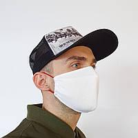 Маска защитная на лицо многоразовая 2-х слойная (МНОГО ЦВЕТОВ- БЕЛАЯ, ЧЕРНАЯ и другие