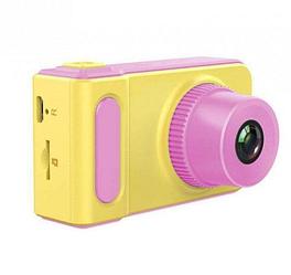 Детский цифровой фотоаппарат Smart Kids Camera V7 розовый | Детская цифровая камера