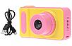 Детский цифровой фотоаппарат Smart Kids Camera V7 розовый   Детская цифровая камера, фото 4