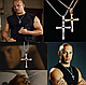 Крестик крест Вин Дизеля Доминика Торетто с цепочкой серебро, фото 2