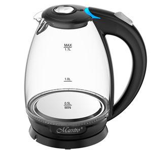 Стеклянный электрочайник Maestro MR-057 (1.7 л, 2200 Вт, подсветка)   электрический чайник Маэстро, Маестро