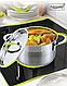 Кастрюля с крышкой из нержавеющей стали Maestro MR-3511-18 (2 л)   набор посуды Маэстро   кастрюли Маестро, фото 3