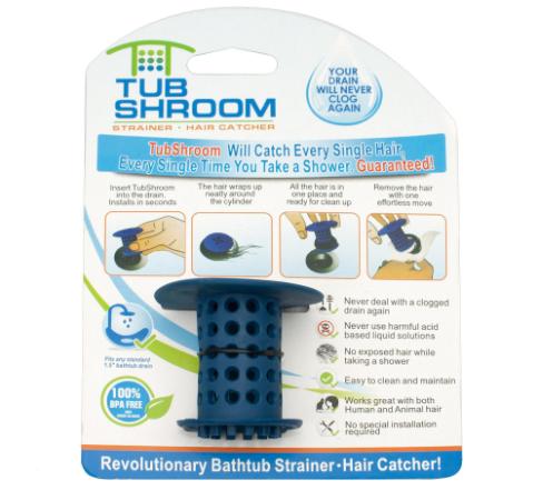 Пробка для ванной TUB SHROOM от засоров | Фильтр пробка для слива в ванной