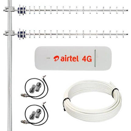 4G Комплект Huawei E3372 + MIMO антенна (1800-2100 LTE-FDD скорость до 150 Мбит/c), фото 2