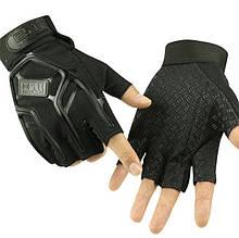 Тактические перчатки 5.11  безпалые черные