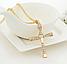 Крестик крест Вин Дизеля Доминика Торетто с цепочкой золото, фото 2