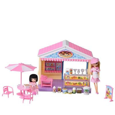 IM373 Домик для куклы кафе мороженое