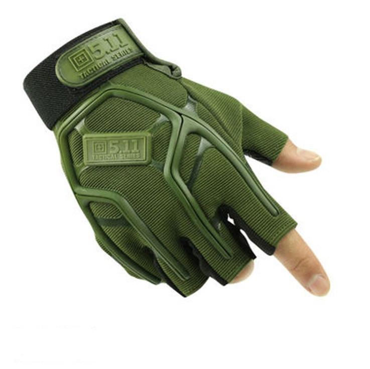 Тактические перчатки 5.11 безпалые олива