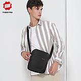 Сумка барсетка мужская повседневная для нетбука/планшета вертикальная Tigernu (черная), фото 6
