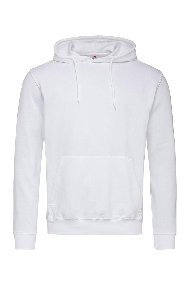 Мужская кофта с капюшоном белая, кенгуру Stedman - WHIСТ4100
