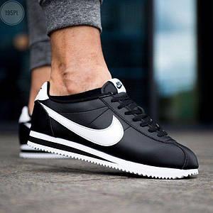 Мужские кроссовки Nike Cortez Classic Leather Black/White