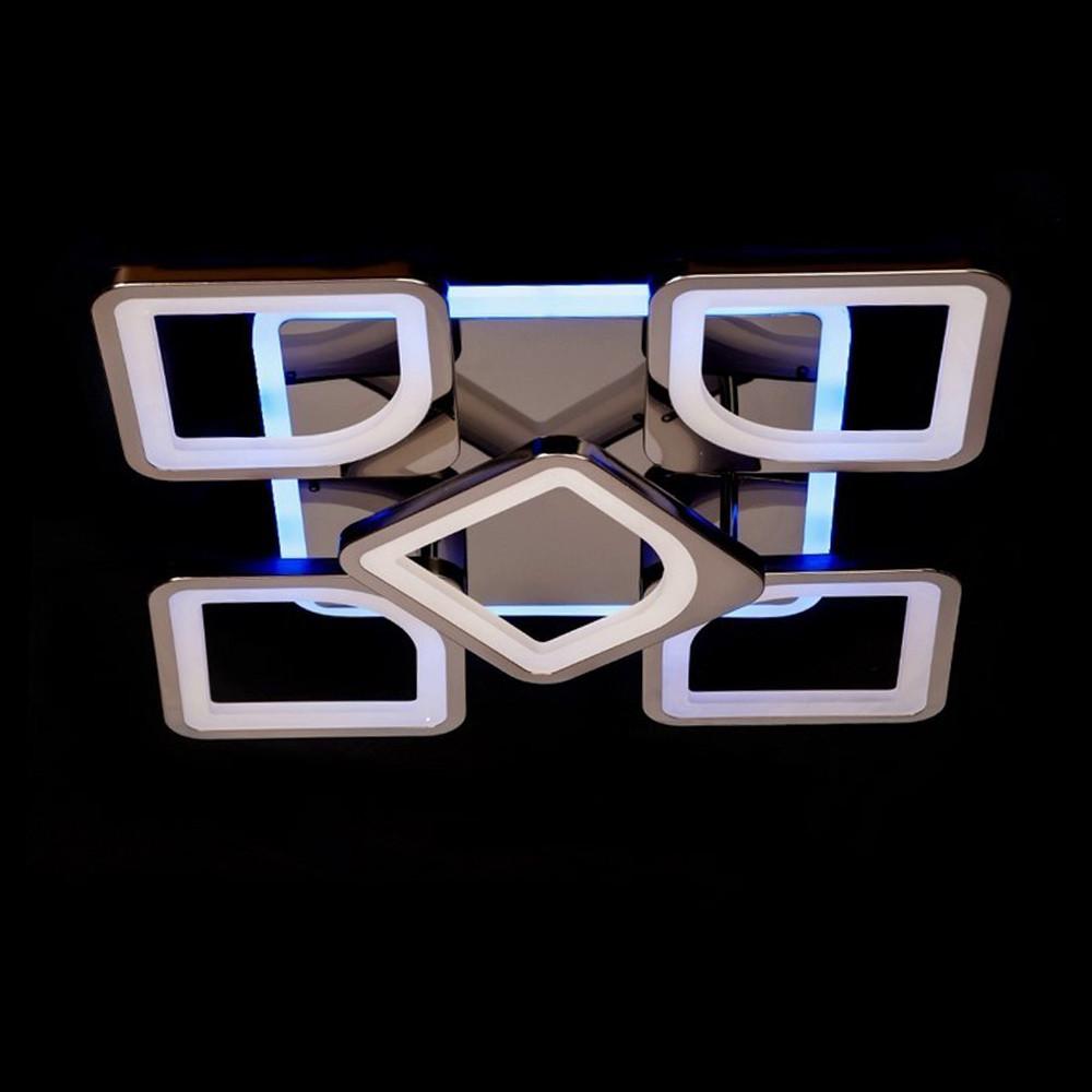 Светодиодная LED люстра СветМира 90 Вт с подсветкой и регулировкой яркости LS-6654-4-1S BHR