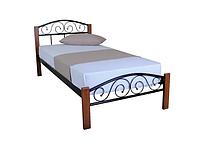 Кровать односпальная металлическая Айгуль Люкс Вуд TM Lavito