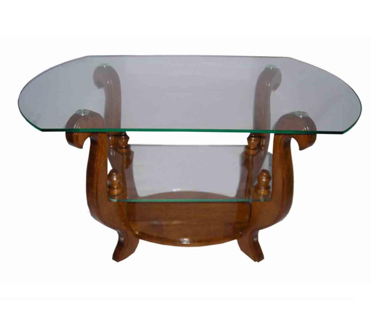 Журнальний кофейний столик зі скла у вітальню Оріон Антонік