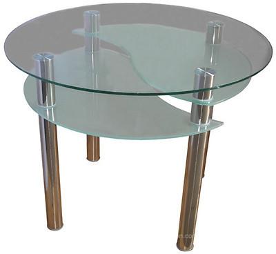 Стіл обідній зі скла в кухню вітальню Елегант Антонік