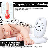 Видеоняня Baby Monitor VB601 с режимом ночного видения и двусторонней связью, фото 3