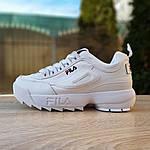 Жіночі кросівки FILA disruptor 2 (біло-сині) 2971, фото 2