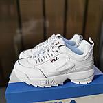 Жіночі кросівки FILA disruptor 2 (біло-сині) 2971, фото 8