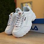 Жіночі кросівки FILA disruptor 2 (біло-сині) 2971, фото 7