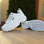 Жіночі кросівки FILA disruptor 2 (біло-сині) 2971, фото 6