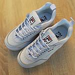 Жіночі кросівки FILA disruptor 2 (біло-сині) 2971, фото 4