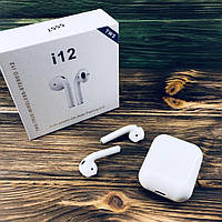 Беспроводные сенсорные наушники Bluetooth (блютуз) I12 TWS  BT 5.0