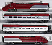 Mehano Железная дорога электропоез из 4 вагонов Thalys, масштаба H0,1:87