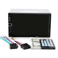 Автомагнитола MP5  2DIN 7018 Little USB  + рамка / Автомобильная магнитола / USB+Bluetoth+Камера