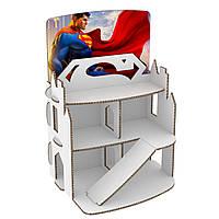 Домик из картона. Супермен. Раскраска. БЕСПЛАТНАЯ ДОСТАВКА