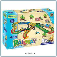 Автомобильная железная дорога детская - 4,1 м. 51711