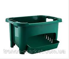 Корзина для хранения овощей темно-зеленый,пластик