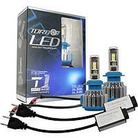 Светодиодные LED лампы T1-H7 для автомобиля / автолампы TurboLed / автомобильные лед лампы
