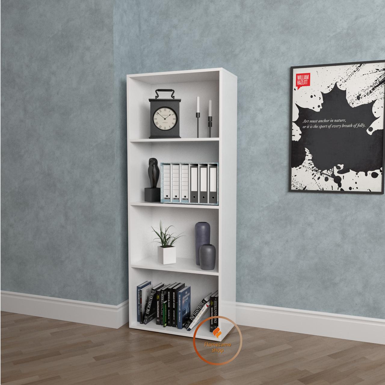 Полка для книг, стеллаж для дома с задней стенкой   КОД: P0074