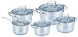 Набор кухонных кастрюль Grandhoff GR-203 из нержавеющей стали 10 предметов, фото 2