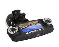 Автомобильный видеорегистратор Double 3 в 1 2 камеры + GPS / авторегистратор / регистратор авто