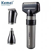 Мужская электробритва Kemei KM 1210 3 в 1 / триммер / машинка для стрижки волос