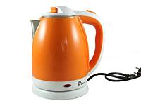Чайник электрический из нержавеющей стали Domotec MS-5022О оранжевый