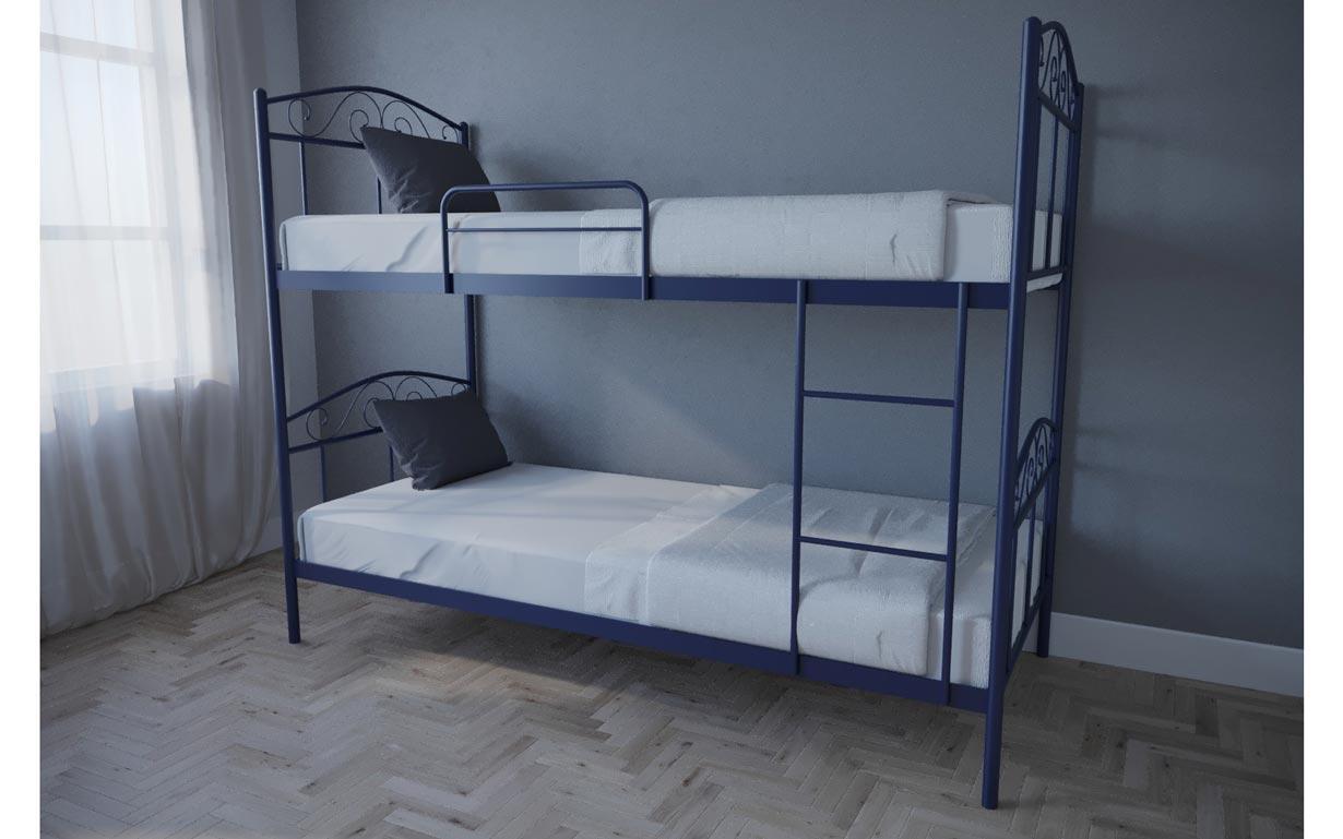 Ліжко двоярусне металеве Еліс Люкс TM Melbi