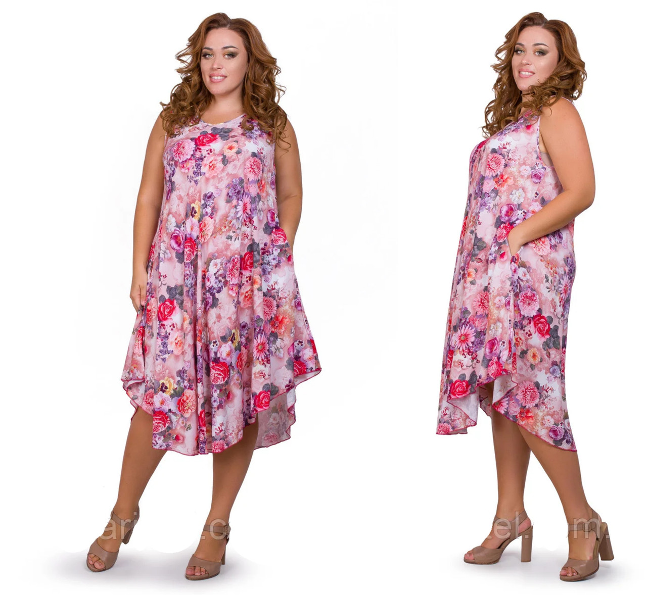 Модные женские сарафаны летние размеры 52-56