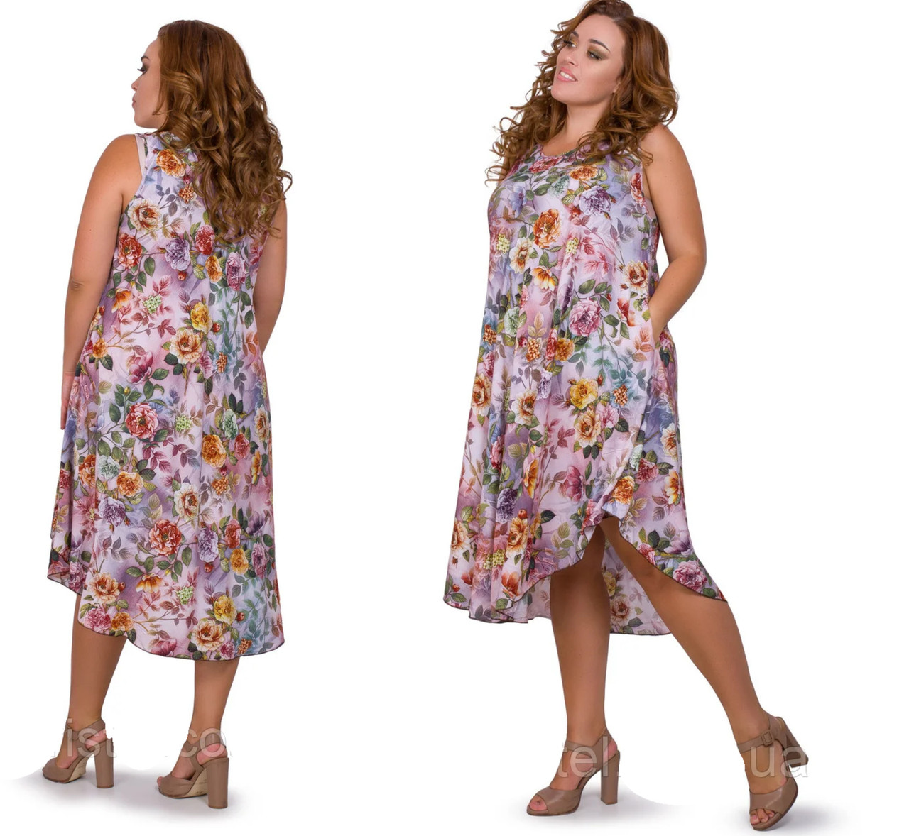 Красивый женский сарафан летний размеры 52-56