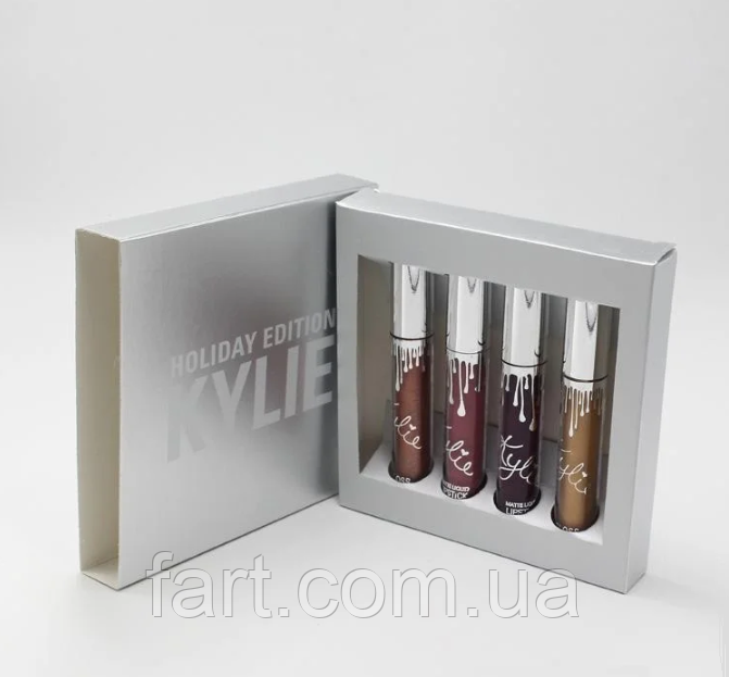 Набор помад Kylie Holiday Edition Lip Kit 4 шт