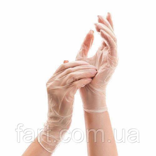 Перчатки виниловые неопудренные поштучно (1 пара)
