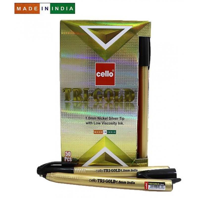 "Ручка ""Cello"" шариковая черная 1мм ""Tri-Gold"""