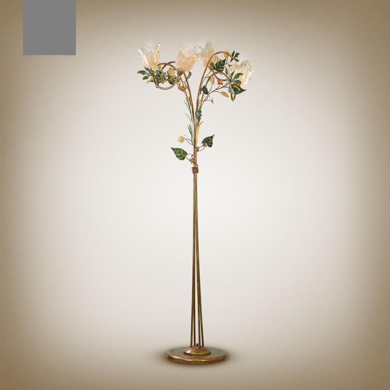 Торшер в стиле флористика 3-х ламповый 2130