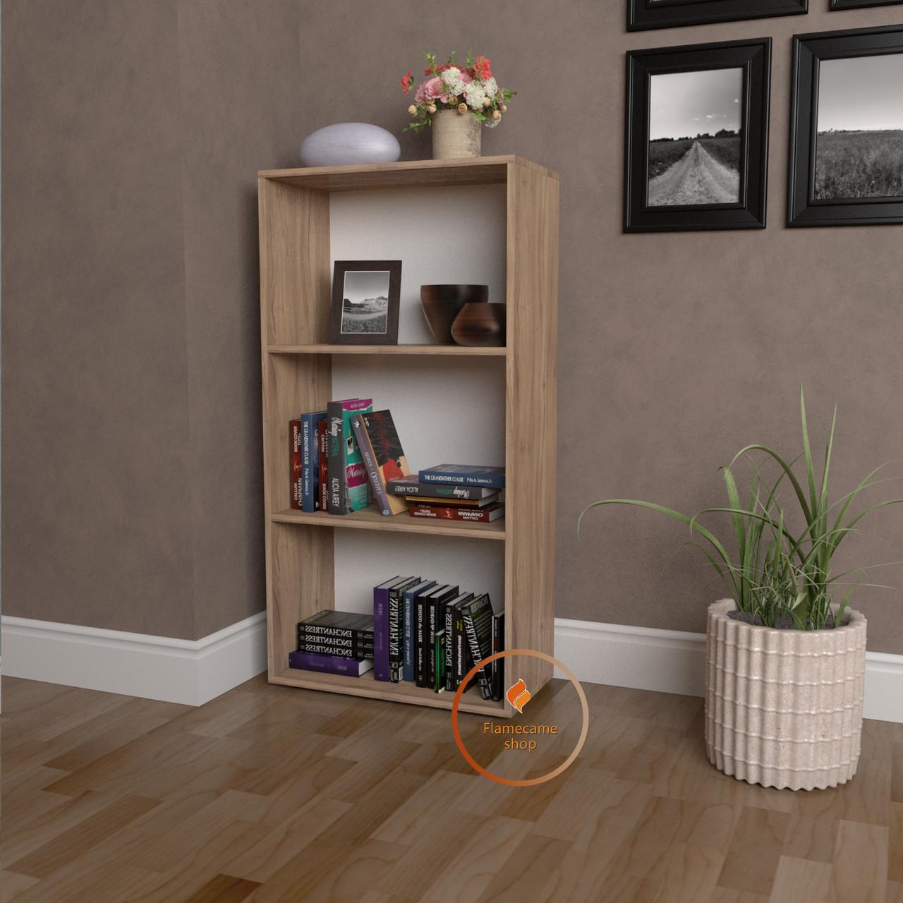 Полиця для книг, стелаж для дому з задньою стінкою | КОД: P0073