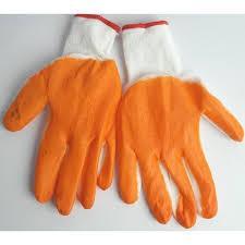 Рукавички робочі стрейч вампір, помаранчеві (дачні) вищий сорт,відмінний затока, високий манжет.